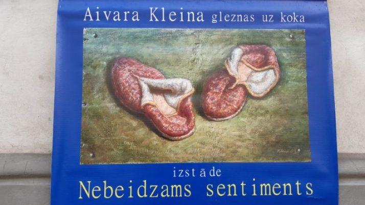 "Aivara Kleina gleznas uz koka izstāde "" Nebeidzams sentiments""."